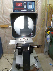 Deltronic Dh216 Optical Comparator With Deltronic Mpc5 Dro Electronic Protracr