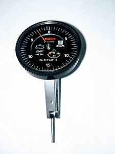 Mitutoyo 513 442 16a Dial Test Indicator With Black Dial Face 06 Range 000