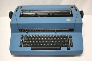 Vintage Blue Ibm Selectric Ii 2 Correcting Typewriter For Parts