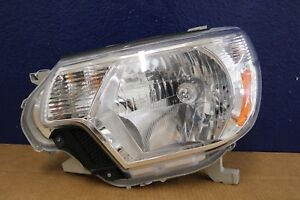 2012 2013 2014 Toyota Tacoma Left Headlight Halogen Chrome Aftermarket
