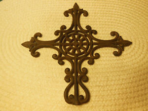 Vtg Cast Iron Ornate Finial Stove Topper Garden Fence Decoration Threaded Base