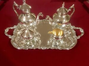 Fb Rogers Silver Co 5 Piece Tea Set Excellent Condition