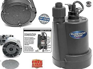 Electric Submersible Utility Water Pump 1 5 Hp Sump Pool Fountain Basement Pond
