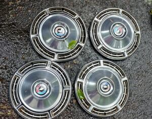 1968 Chevy Chevelle 14 Hub Caps Wheel Covers Red White Blue Good Set Of 4