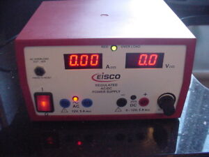 Eisco Regulated 12 Volt Ac Dc 5 Amp Power Supply 12v 5a Ac dc Epr 1331
