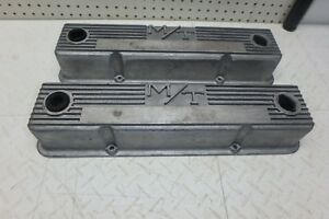 Vintage Mickey Thompson M T 103r 50b Aluminum Valve Covers For Small Block Chevy