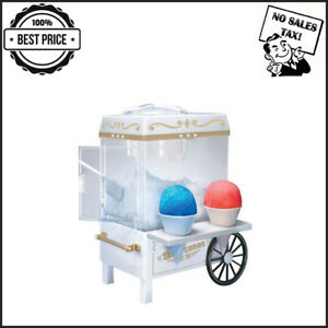 Snow Cone Maker Electric Machine Ice Sno Shaver Crusher Shaved Cart Nostalgia