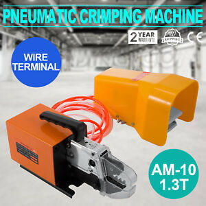 Am 10 Pneumatic Air Powered Wire Terminal Mobile Crimping Machine tool Hot Sale