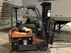 Used Toyota 7fbeu15 Battery 36v Electric Lift Truck forklift hi lo 42 x4 For