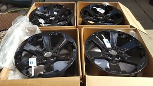 Chevy Cadillac Gmc Tahoe 22 2015 2018 Factory Original Black Rims 19301162