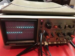 Hitachi V 212 Analog Oscilloscope With 3 Probes Front Cover And Accy Bag