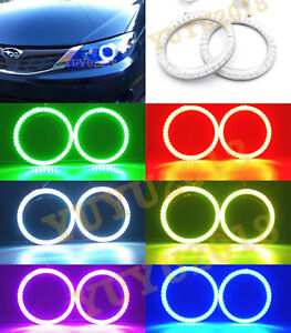 Rf Rgb Led Halo Ring For Subaru Impreza wrx Sti 2008 14 Headlight Angel Eye Drl