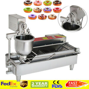Automatic Electric Donut Making Machine Donut Fryer 3 Size Outlet 1100 Pcs h