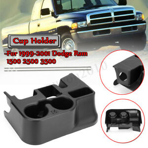 Black Center Console Cup Holder Attachment For 1999 01 Dodge Ram 1500 2500 3500