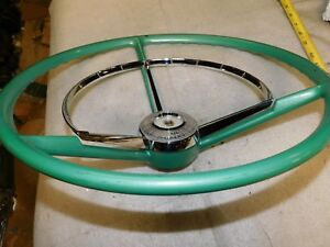 1957 Ford Steering Wheel Horn Ring Nos