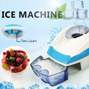 Electric Ice Crusher Shaving Ice Shaver Snow Cone Machine Party Ice Maker New