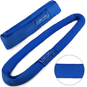9 8ft 17600lbs Endless Round Lifting Sling Strap Durable Crane