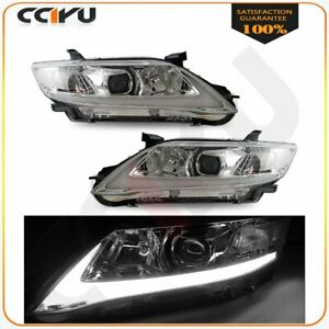 For 2010 2011 Toyota Camry Projector Headlight Led Drl Headlights Head Lamp