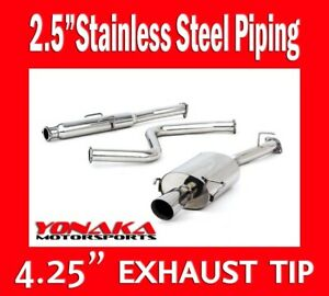 Yonaka 2 5 Piping 97 01 Honda Prelude Catback Exhaust System H22a4 Bb6 Base Se