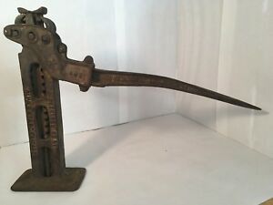Antiqu Car Truck Auto Jack With Handle tire Iron Collectible Primitive Chicago