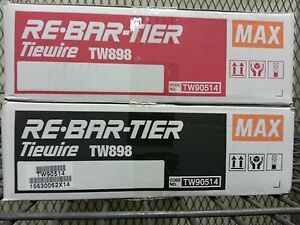 Tw898 Tw897a Tie Wire 21ga 50 pk Max Rebar Tier For Rb398 397 395 392 Rb518 517