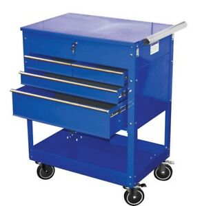 Professional 4 drawer Service Cart Blue Atd 7047 Brand New