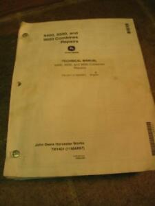 John Deere 9400 9500 9600 Combine Repair Technical Manual Tm1401