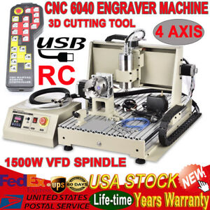 1500w Cnc 6040 Router Kit Usb Desktop 4 Axis Engraver Milling Machine controller