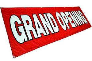 3x10 Ft Grand Opening Banner Vinyl Alternative Store Sign Fabric Rb