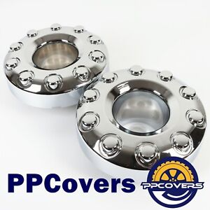 05 17 Ford F450 F550 Super Duty Wheel Center Hub Caps Dually 10 Lug Wheel Pair