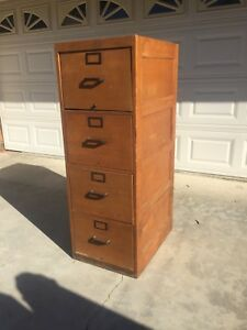 4 Drawer Globe Wernicke Upright Wooden File Cabinet In Light Oak