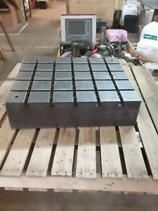 27 75 X 23 75 X 7 Steel Weld T slot Table Cast Iron Layout Plate 4x5 Slot