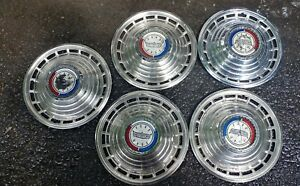1963 63 Ford Galaxie Hubcaps Wheel Covers Hub Caps 14 Set Of 5