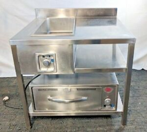 Used Custom Commercial Prep Table Warming Oven And Electric Steam Bin Tested