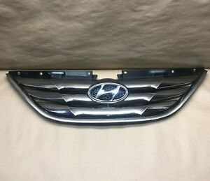 2011 2012 2013 Hyundai Sonata Front Grille Assembly Chrome Oem 86350 3s100