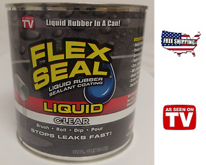 Flex Seal Liquid Rubber Sealant Clear 32oz As Seen On Tv Brush Roll Dip Pour