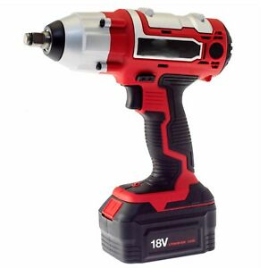 1 2 Inch Impact Nut Gun 3 Amp Hour Battery 380nm Torque Cordless With 4 Sockets