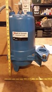 Gould Sewage Pump 3 4 Hp 460v 3ph 2 or 3 Discharge Xylem Nameplate