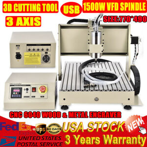 Usb Cnc Router 6040 Engraver Milling Machine Engraving Drilling 3axis Vfd 1500w