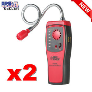 2x Portable Combustible Natural Gas Propane Leak Detector Tester Visual Leakage