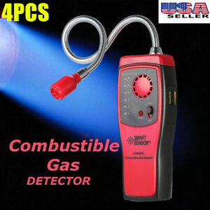 4x Combustible Gas Leak Detector Tester Meter With Visual Leakage Indicator Tool