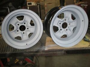 Gm Oldsmobile Cutlass 1970 71 72 4 15x7 Rally Wheels Repro