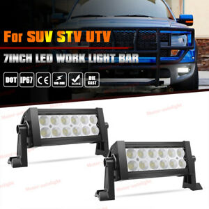 2pcs Led Light Bar 7inch 36w Flood Off Road Fog Driving Lights 2 Years Warranty