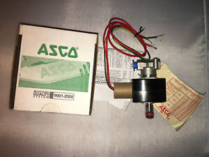 Asco Ef8314h301 Electric Solenoid Valve 1 4 Npt 3 way 12 dc Stainless Steel
