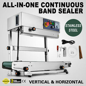 Automatic Continuous Band Sealer Frb 770 Sealing Machine Vertical Duo function