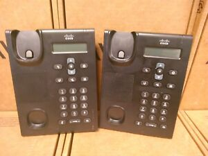 Lot Of 2 Cisco Systems Unified Sip Phone Cp 3905 Base Only Charcoal Working