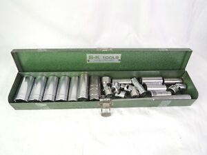 Sk Professional Tools Usa 17 Pc Standard 3 8 Drive Socket Set 6pt Sae