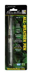 New Rite In The Rain All weather Black Retractable Ball Point Pen 1 Pk