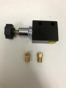 Universal Adjustable In Line Proportioning Valve With Knob Fittings Included