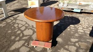 36 Round Conference executive Walnut Table W wood Base We Deliver Local Nor Ca